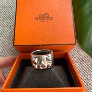Hermès Sterling Silver Collier de Chien Ring
